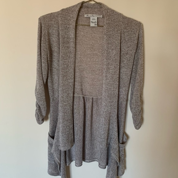 American Rag Sweaters - Women's Heathered Cardigan, 3/4 Sleeve SOLD